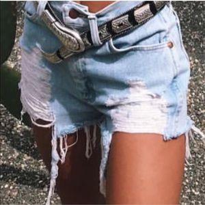 NEW🎈Carmar denim distressed high waist denim